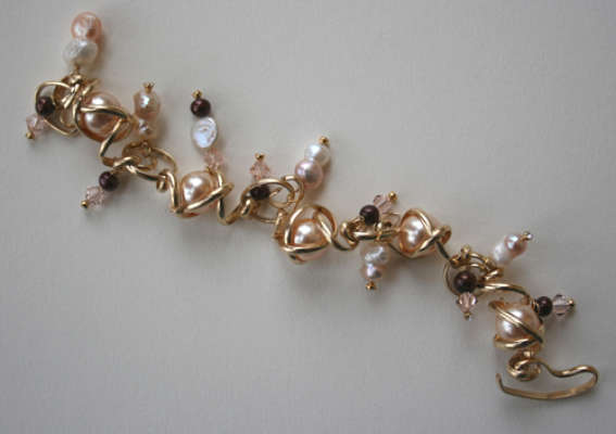 Bracelet with assorted pearls, $$200.0000