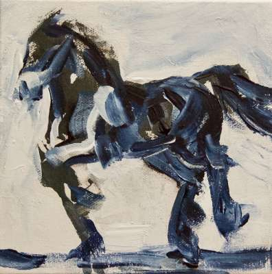 "Big Moving Horse, 6"" x 6"" x 1.5"", $$100.0000"