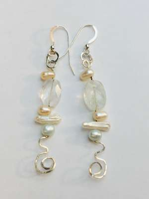 Freshwater Pearls, and Aquamarine, $$60.0000